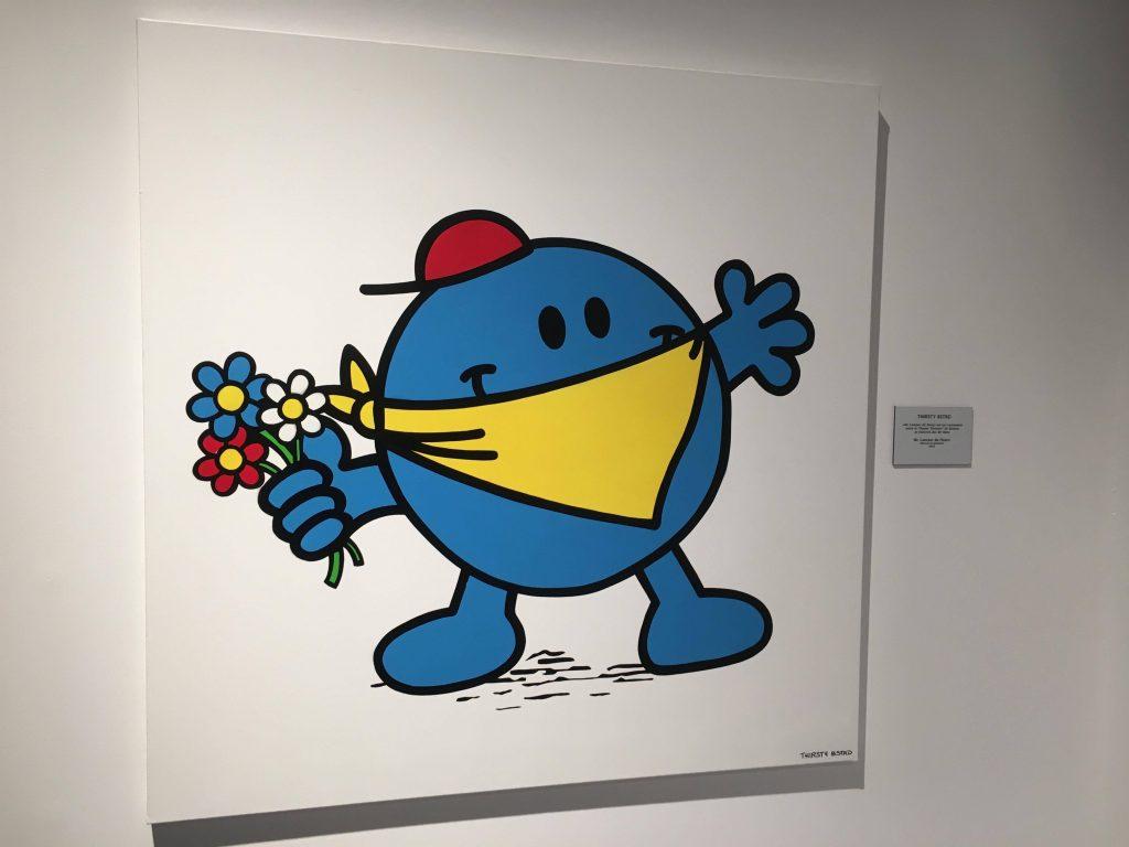"""Thirsty BSTRD s'inspire du """"manifestant aux fleurs"""" de Banksy. Crédits : N.Q"""