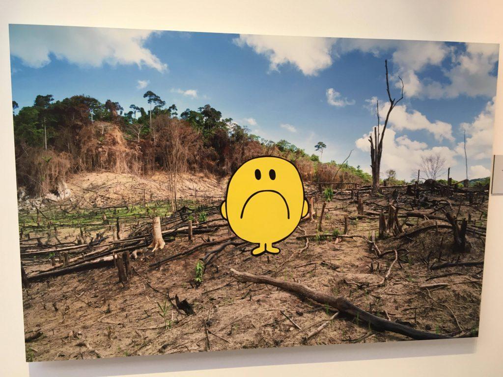 Monsieur Monsieur B. dénonce la déforestation par le prisme de Monsieur Madame. Crédits : N.Q